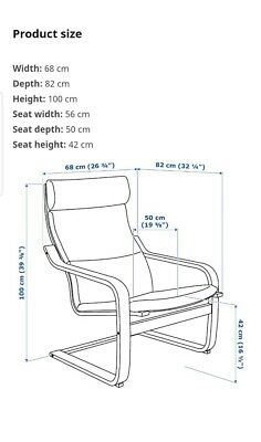 May Deliver Thick Pad Ikea Poang Chair  Flower Pattern In South East London  • 25£