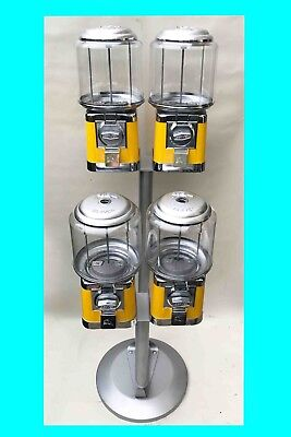 £60 • Buy Sweet Machine Pipe Stand Silver (quad Head X4) Coin Operated Sweet Vending Used
