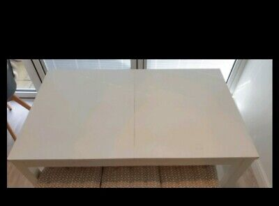 May Deliver. IKEA Bjursta White Extending Table 1.4, 1.8, 2.2 Meter • 70£