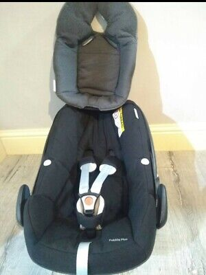 Maxi Cosi Pebble Plus I-Size 0+ Birth 12m Baby Car Seat Newborn Inlay Rain Cover • 34.99£