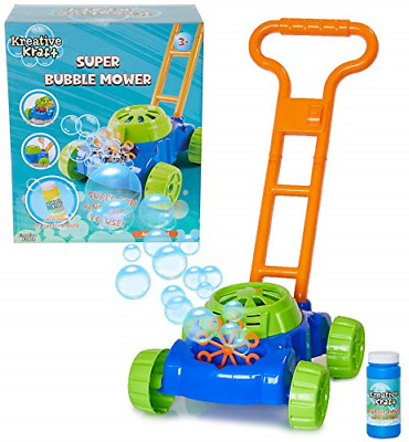 KreativeKraft Lawn Bubble Mower Push Along Toy Lawnmower For Kids And Toddlers | • 18£