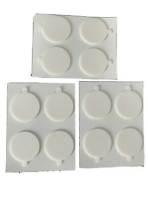 £2.50 • Buy 12 X Double Sided 30mm Round Foam Sticky Pads Self Adhesive, Free Postage,