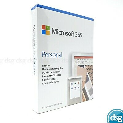 AU73.78 • Buy Microsoft Office 365 Personal 1 User 12 Month Licence 2020 Edition PC Mac Mobile