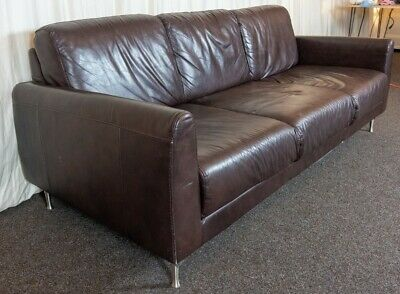 Leather 3 Seater Sofa Excellent Condition • 31£