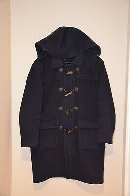 $250 • Buy $698 Brooks Brothers 100% Wool Toggle Duffle Coat Navy Blue Men's Small S