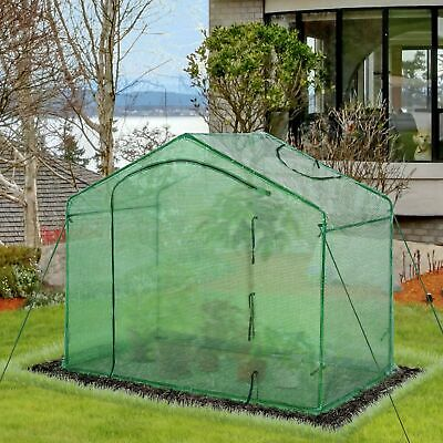 Outsunny Walk-In Greenhouse Outdoor Garden Plant Shelter PE Cover 180x105x165cm • 40.99£