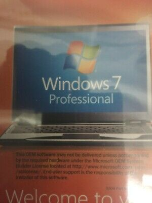 Microsoft Windows 7 Professional 64 Bit Full DVD With Product Key.(Old Version)  • 26.06£