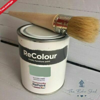 750ml CHALK FEELING SAGE GREEN Furniture PAINT Chalky Matt Smooth Great Finish  • 12.95£