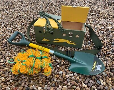 £110 • Buy Double Bow Back Ferret Box Spade Set With 10 4ft Nets & Game Carrier Rabbiting