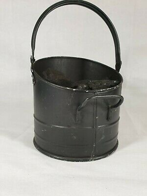 Vintage Style Black Coal Scuttle. Age Related Wear And Tear. 100% Solid. • 10£