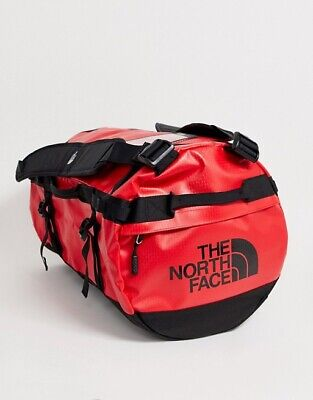 The North Face Base Camp Duffle Bag Small Red 50L Litre RRP £100 Backpack Duffel • 78.95£