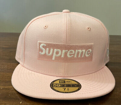 $ CDN124.61 • Buy Supreme Champions Box Logo New Era Pink Hat 7 3/8 Ss21 Week 1 In Hand Authentic