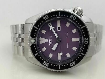 $ CDN77.61 • Buy Lovely Vintage Seiko Diver 4205-0155 Purple Face Automatic Mid Size Watch 571237