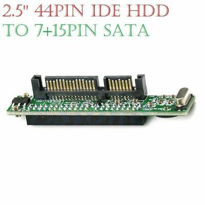 44 Pin 2.5'' IDE HDD SSD Laptop Hard Drive Female To 7+15 Pin Male SATA Adapter • 3.49£