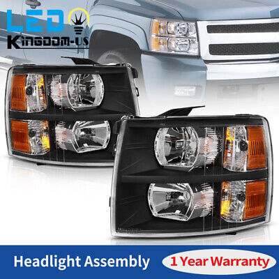 $91.99 • Buy Headlights Assembly For 2007-2013 Chevy Silverado 1500 2500HD 3500HD Headlamps