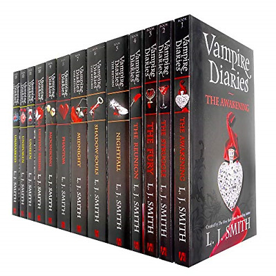 Vampire Diaries Complete Collection 13 Books Set By L. J. Smith The Awakening, & • 70.43£