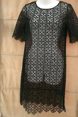 Ladies Next Full Lace Black Dress Size UK 6 Beach Wear Cover Up • 3.99£