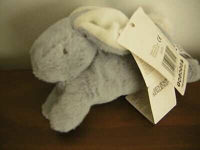 Mamas And Papas Grey Bunny Rabbit Soft Toy • 12£