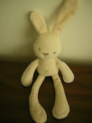 Mamas And Papas Small Cream Chime Bunny Rabbit Soft Toy • 7.99£