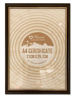 £3.95 • Buy Dark Brown & Gold A4 Glass Photo Certificate Poster Picture Frame Hang Or Stand