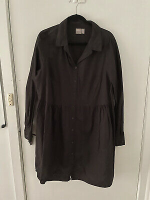 AU10 • Buy Asos Black Long Sleeved Shirt Dress Size 18