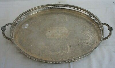 £59.99 • Buy Vintage Silver Plated Cavalier Made In England Butlers Serving Tray