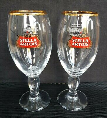 Two NEW Stella Artois Lager Beer Pint Glasses - Ideal For Home Pub - Bar  • 7£