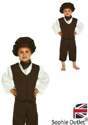 £12.80 • Buy VICTORIAN Poor Boy Orphan Child's Book Week Fancy Dress Costume Kids Outfit  UK