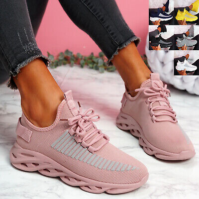 $ CDN29.41 • Buy Womens Ladies Sport Sneakers Chunky Trainers Lace Up Women Party Shoes Size