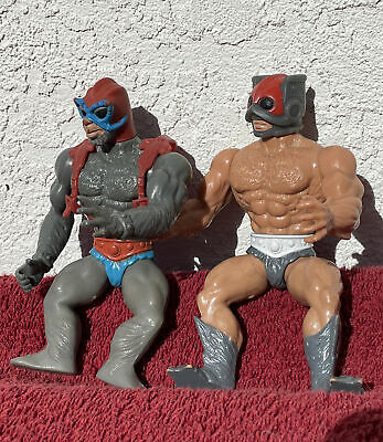 $9.99 • Buy Vintage 1981 Masters Of The Universe Stratos & Zodac *Soft Heads