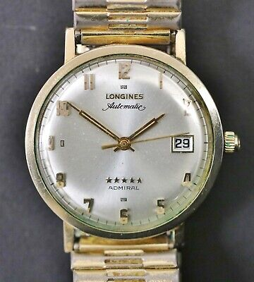 $ CDN631.09 • Buy Vintage Longines 5 Star Admiral Automatic Date Window 10k Gold Filled Watch