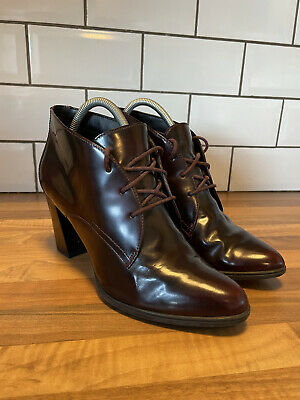 Clarks Womens Artisan Kadri Alexa Oxblood Red Leather Lace Up Ankle Boots UK 7 • 19.75£
