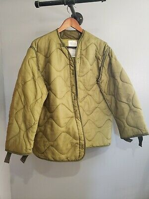 $25 • Buy Military Coat Liner, M65 Quilted OD Green Cold Weather Field Jacket Liner