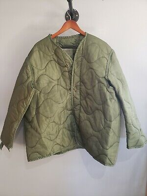 $25 • Buy Military Coat Liner, M65 Quilted Foliage Green Cold Weather Field Jacket Liner
