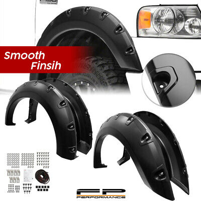 $105.99 • Buy For  2004-2008 Ford F150 Smooth Pocket Rivet Paintable Fender Flare Set No Drill