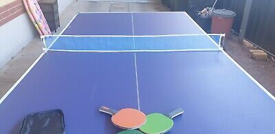 AU29.99 • Buy Table Tennis Table, 4 X Bats, Balls, 2 X Nets, Collapsible Full Size Good Con.