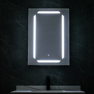 Aluminum Cabinet Mirror Dimmable 3 Colors LED Light Up Bathroom Wall Shelf Box • 225.95£