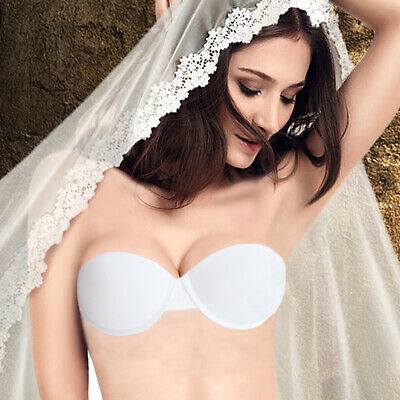 £4.99 • Buy Wedding Invisible Lingerie Strapless Multiway Transparent Clear Back Straps Bra