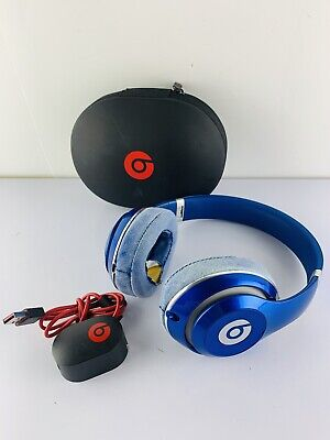 Beats By Dr Dre Studio Wired 2.0 Over-Ear Blue Headphones B0500 (NEEDS EAR PADS) • 42.42£