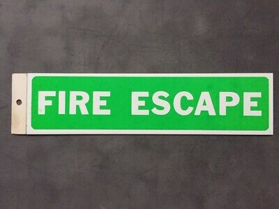 Fire Escape Sign Green Background 8  X 2  Self-adhesive Made In Canada  • 2.34£