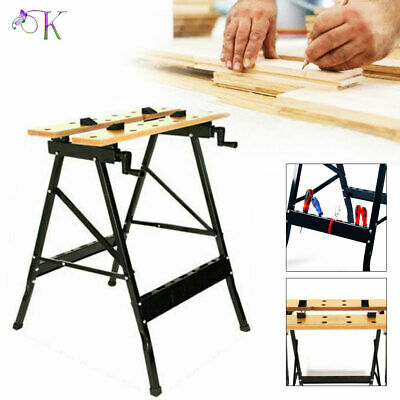 £23.89 • Buy Work Bench Table DIY Portable Folding Workbench Workmate With Clamping Vice UK