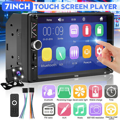 AU73.70 • Buy 7'' 2 DIN Head Unit Car Stereo MP5 Player Bluetooth Touch Screen USB AUX Camera