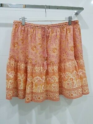 AU50 • Buy Spell And The Gypsy Collective Sundown Mini Skirt-Apricot. Size XL. BNWT