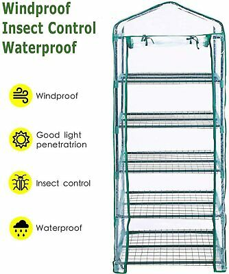 5 Tier Mini Greenhouse Walk In Grow Bag Green House Only PVC Cover Plastic Bag • 11.99£