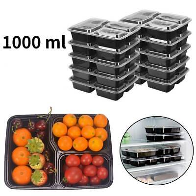£13.18 • Buy 10 Pack Meal Prep Food Containers Microwavable BPA Free Glass Reusable Lunch Box