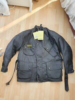 Barbour Cotton Waxed Bikers Jacket With Armour Size XL • 100£