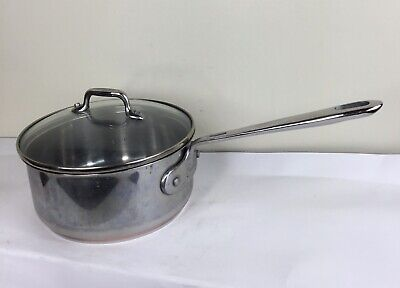 $ CDN63.29 • Buy Emeril Lagasse Copper Core Stainless Steel 2 Qt Quart Sauce Pan With Lid