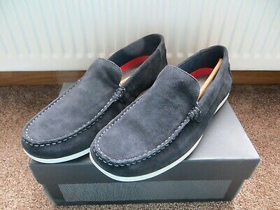 Bnwt Mens Size 10 Eu 44.5 100% Leather Upper Slip On Loafers By Rockport • 45.99£