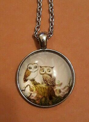 $ CDN7.58 • Buy Owl Pendant Necklace New 22 Inches