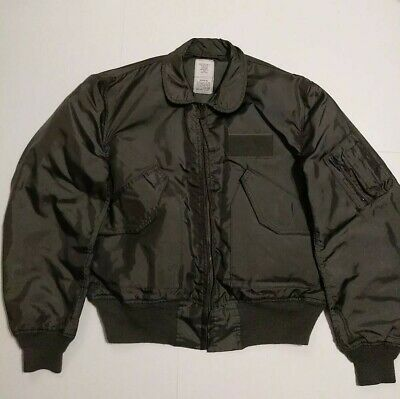 $ CDN94.93 • Buy MILITARY CWU-36/P SUMMER FLYERS FLIGHT JACKET MENS Large. Great Condition. Green
